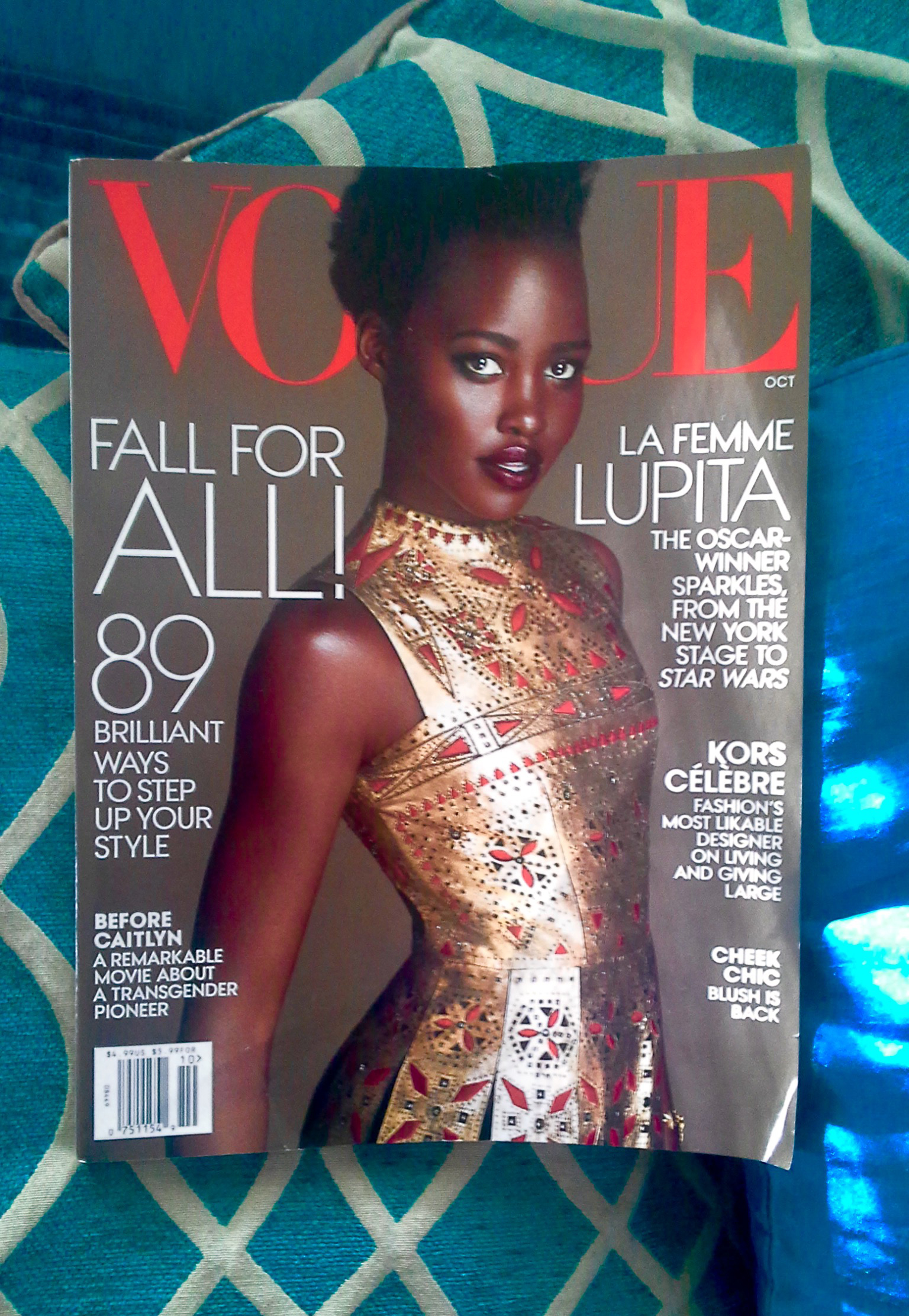 Lupita Nyong'o on the cover of October's Vogue magazine (Photo Credit: Shola Mapp)